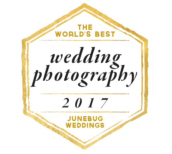 Junebug Weddings Worlds Best Wedding Photography 2016 and 2017 Award