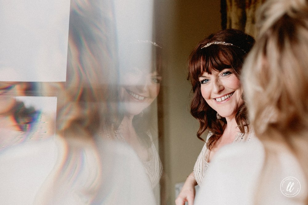 Bridal Prep Portrait At Lake Vyrnwy