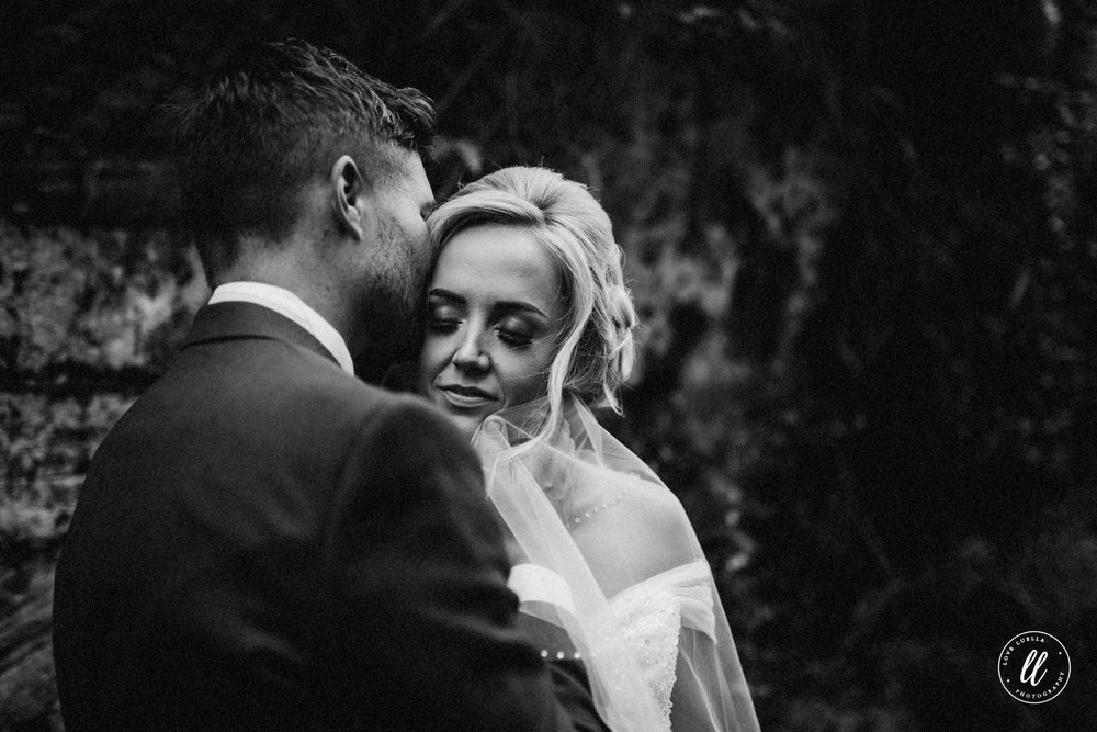 Emotional Moment Between Bride And Groom At A Chester Wedding