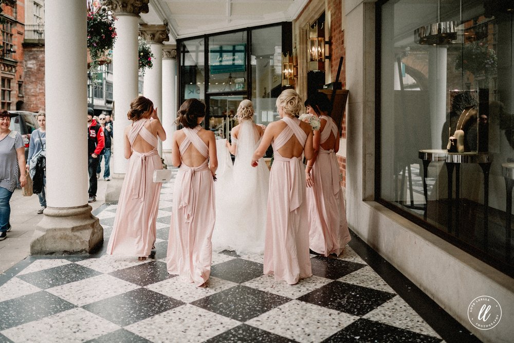 Bridal Party Outside Bootles Chester