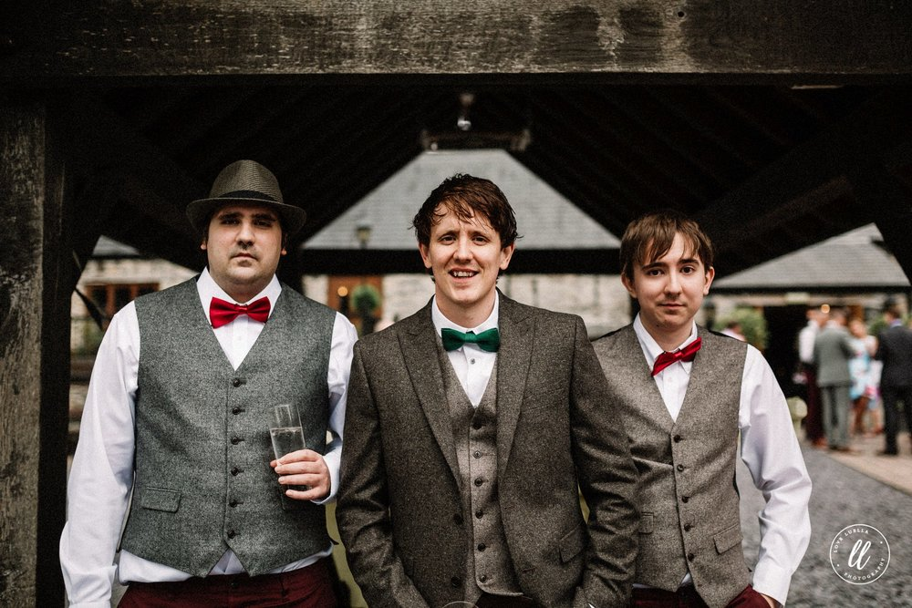The groom and his two brothers