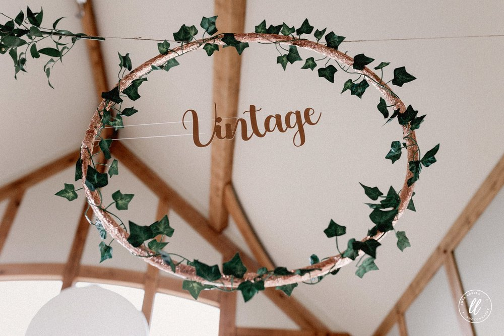 Rose Gold Hula Hoop Decor