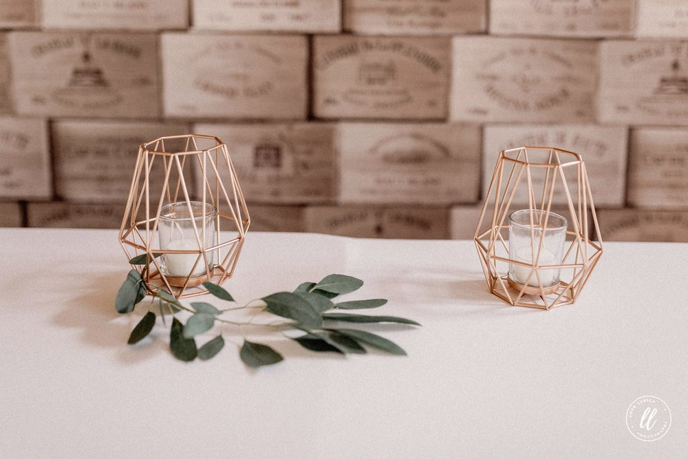 Geometric Rose Gold Candle Holders