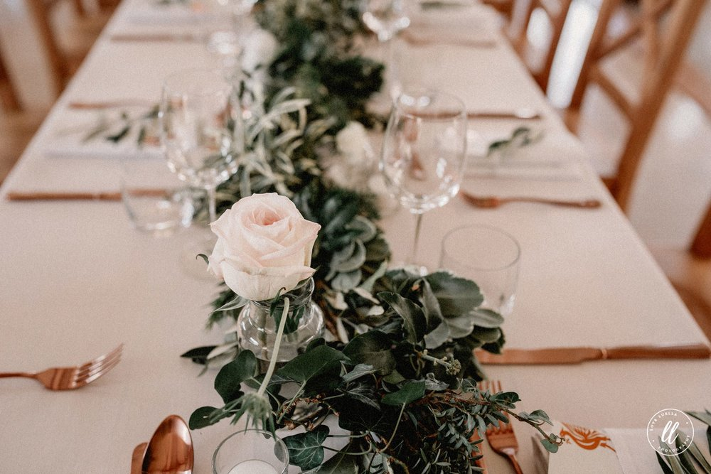 Rose Gold Wedding Cutlery