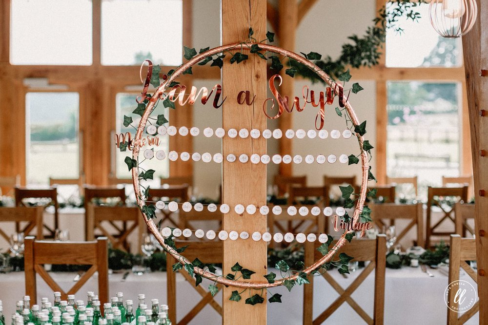 Rose Gold And Green Table Plan