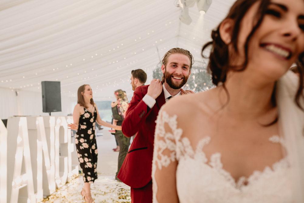 Cheshire Festival Wedding Candid Dancefloor Shot