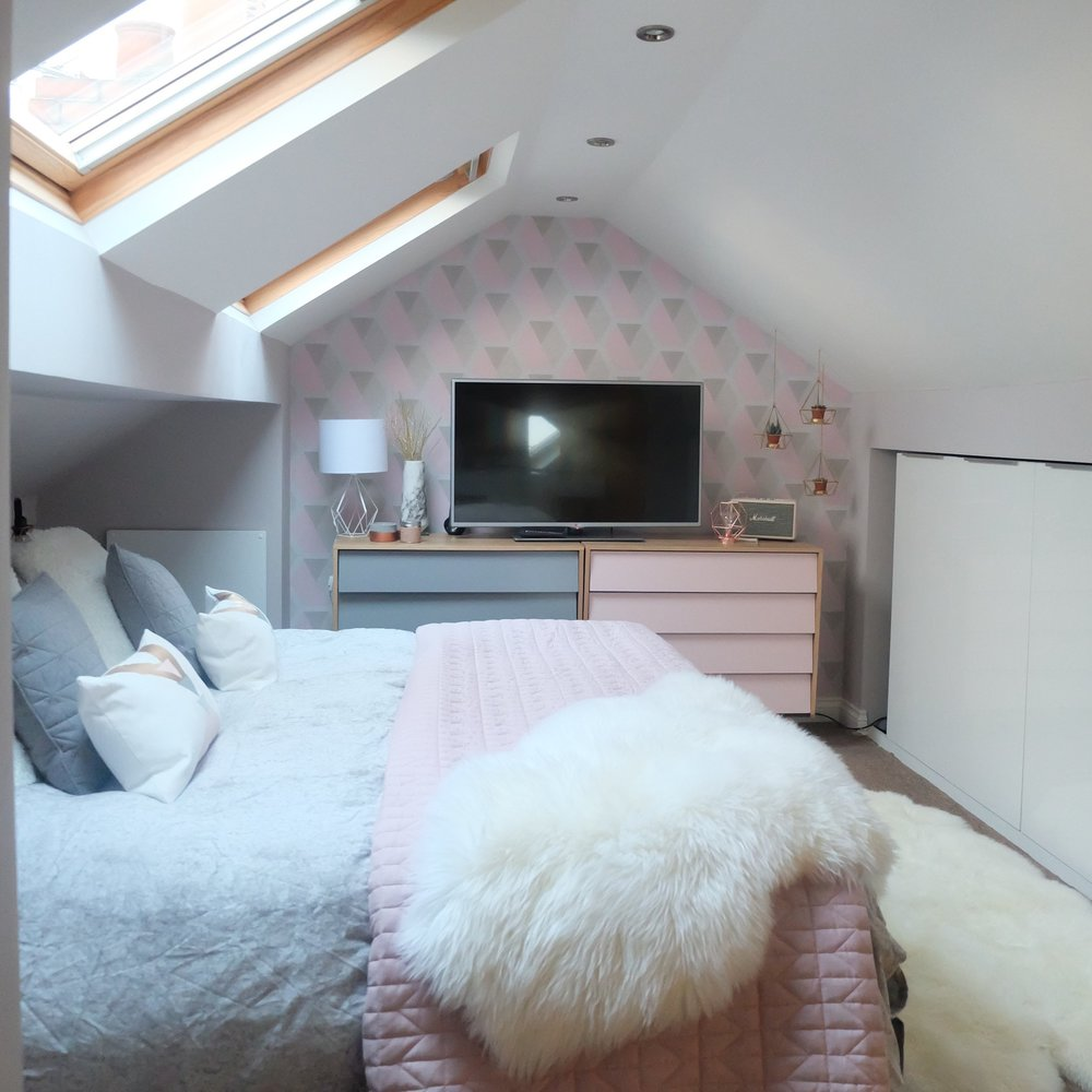 Interior Decorating: Loft Bedroom Restyle — Manchester & London Food on diy loft bedrooms, decorating bathrooms, decorating kitchen, decorating loft apartments, decorating loft ceilings,
