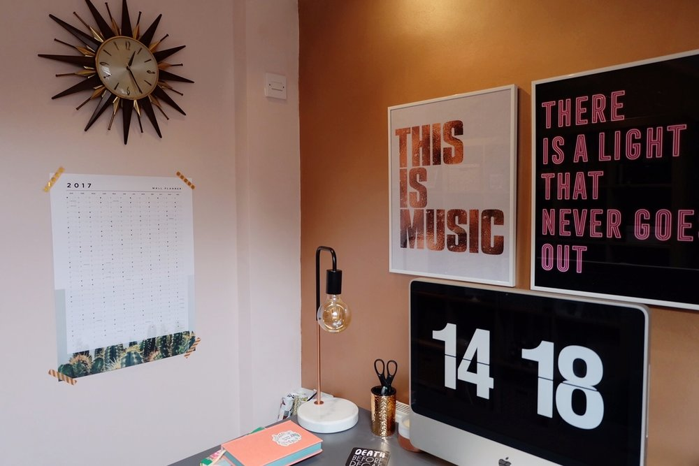 Home office Typography prints