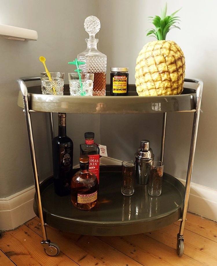 Dotty Dishes retro bar cart