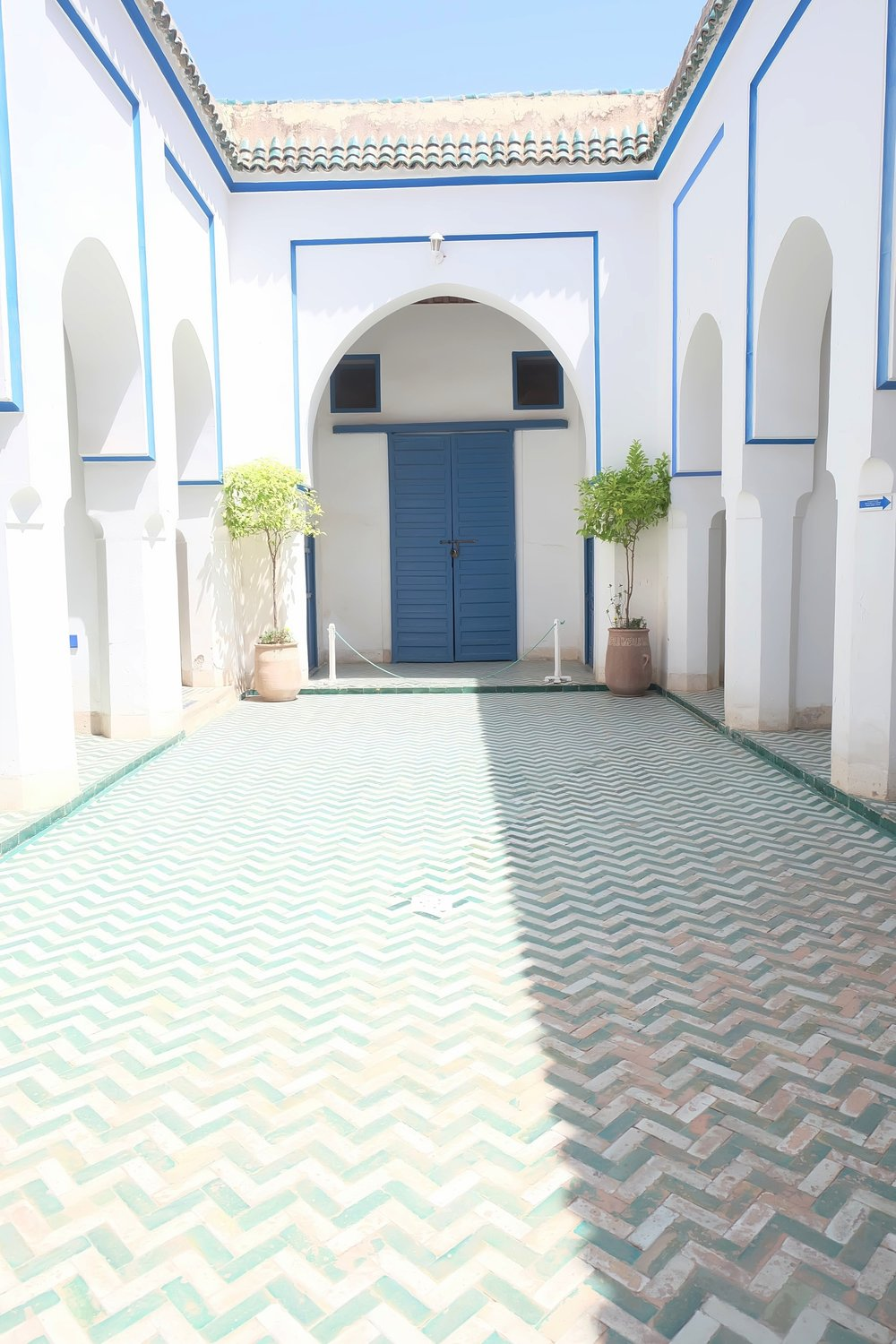 Moroccan tiled flooring Marrakech