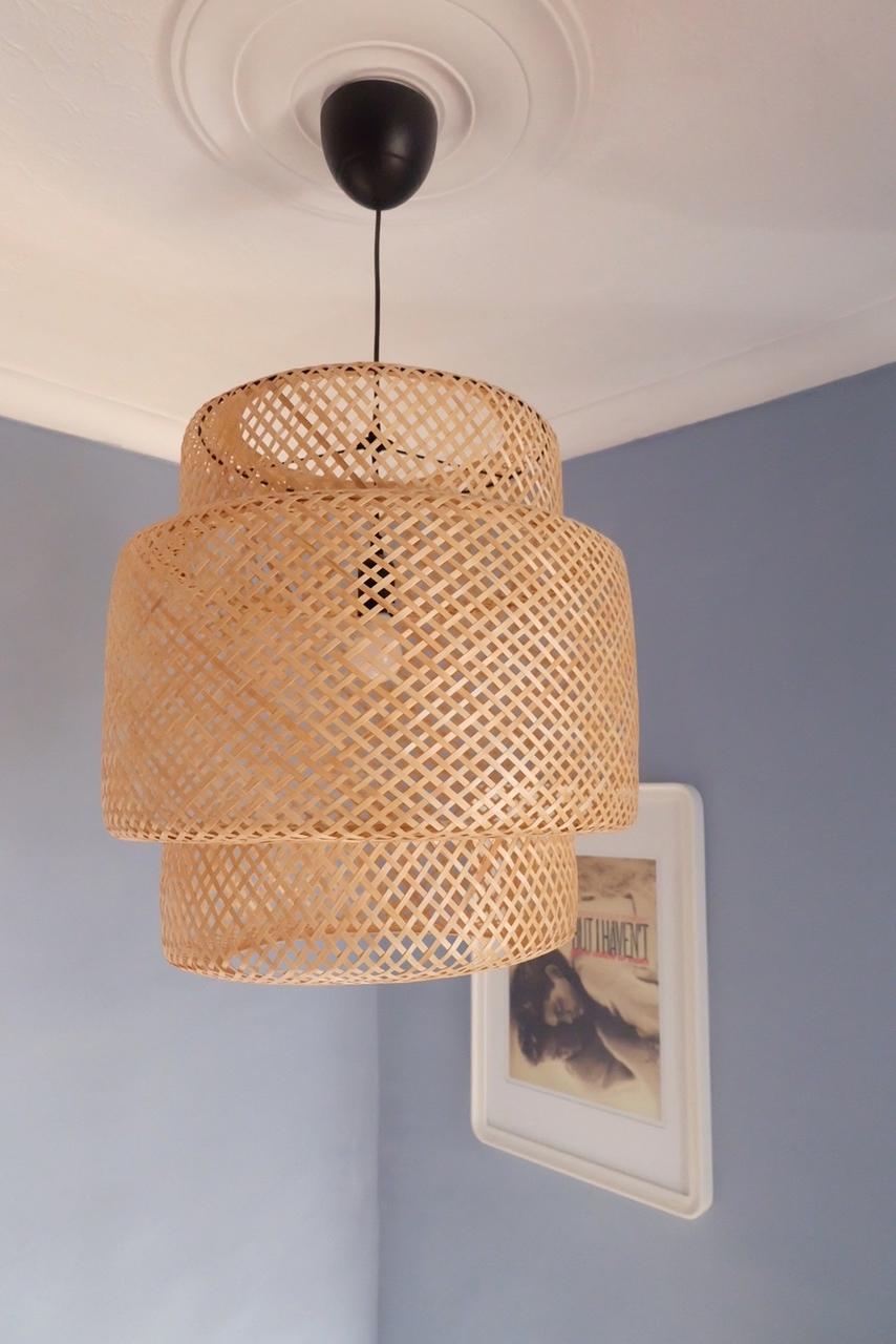 Isle Crawford for Ikea rattan pendant