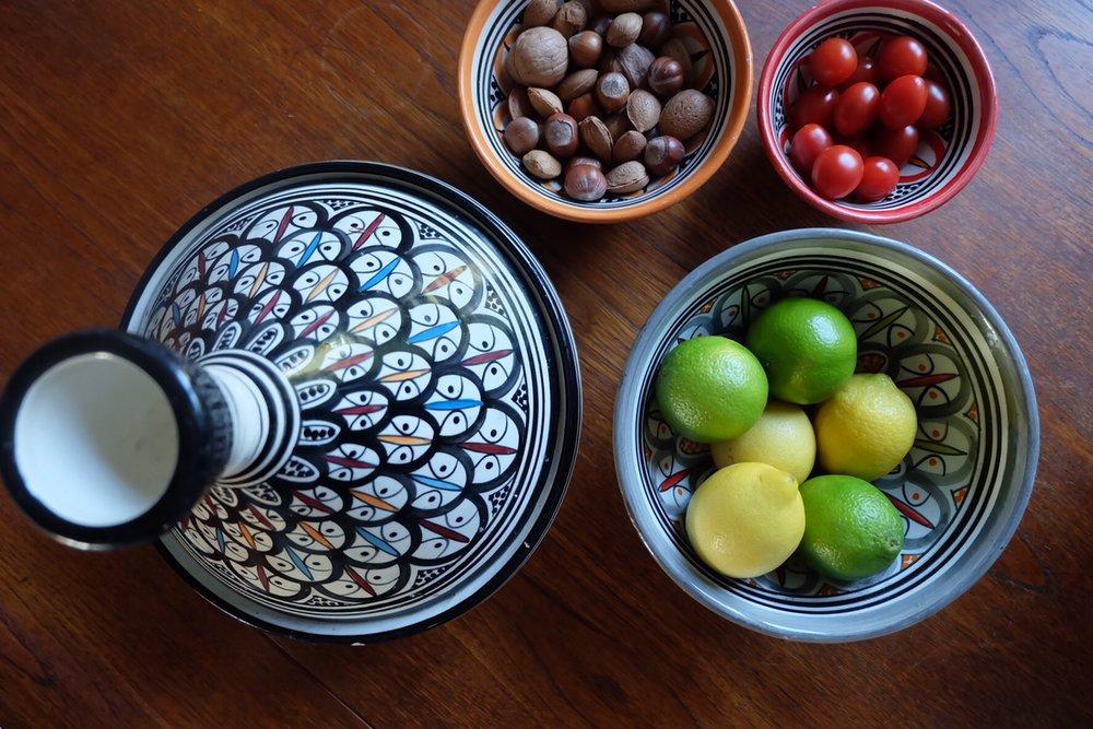 Moroccan tableware