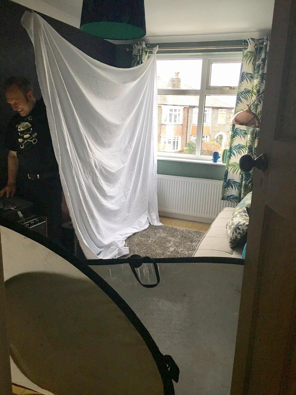 Interiors photoshoot behind the scenes