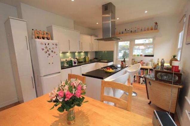 London flat modern open plan kitchen