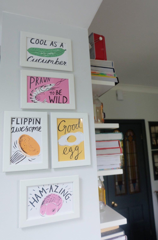 Ikea framed cards