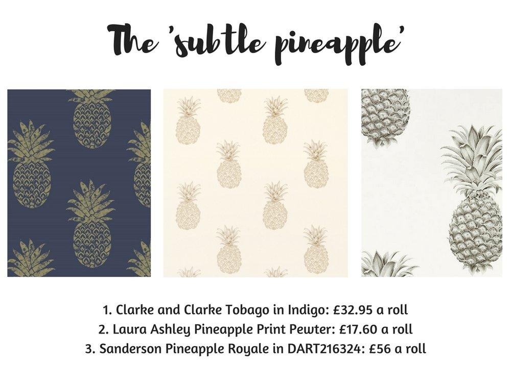 Subtle Pineapple Wallpaper