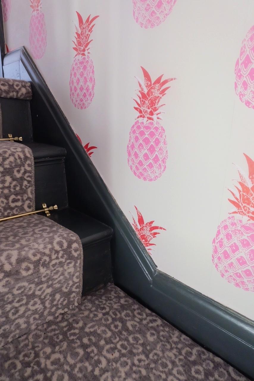 Pineapple & Leopard Print Pattern Clash