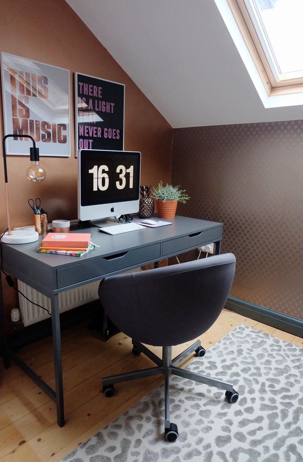Copper home office