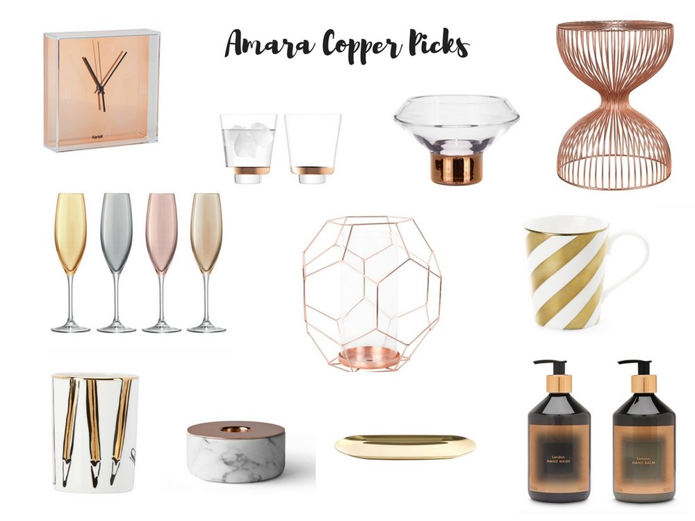 Amara copper homeware