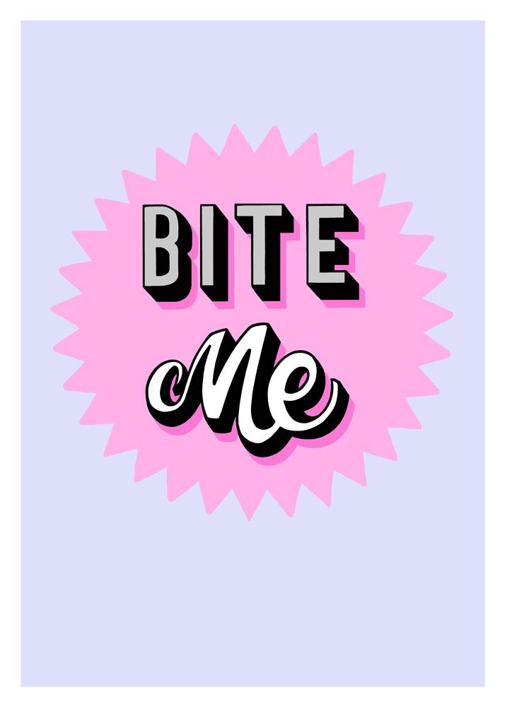 Daisy Emerson Bite Me print