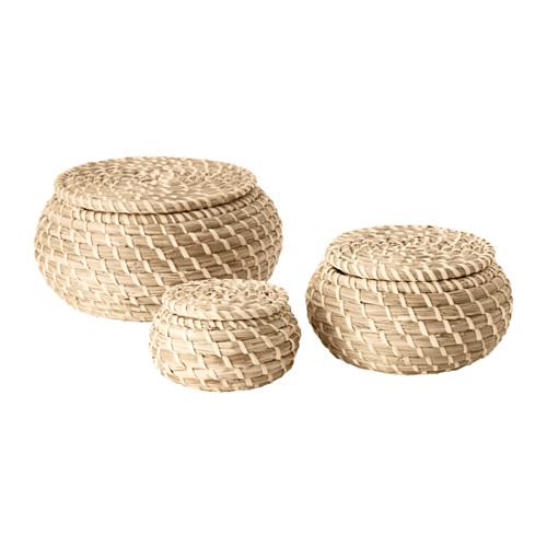 Ikea seagrass baskets