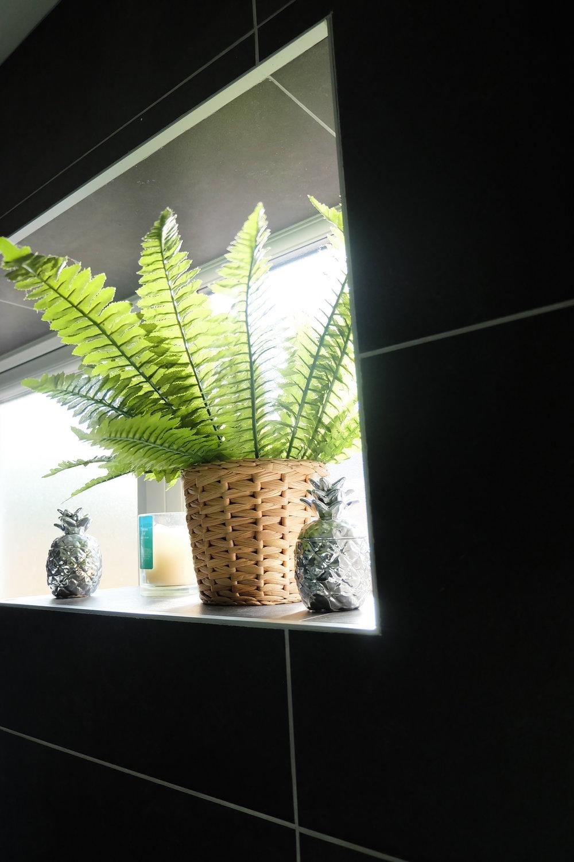 Faux bathroom plant