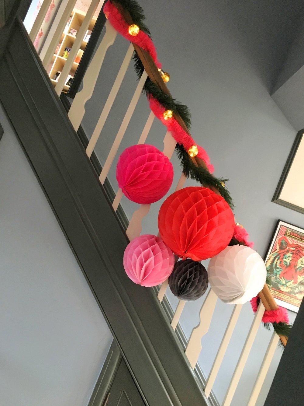DIY Pom Pom staircase