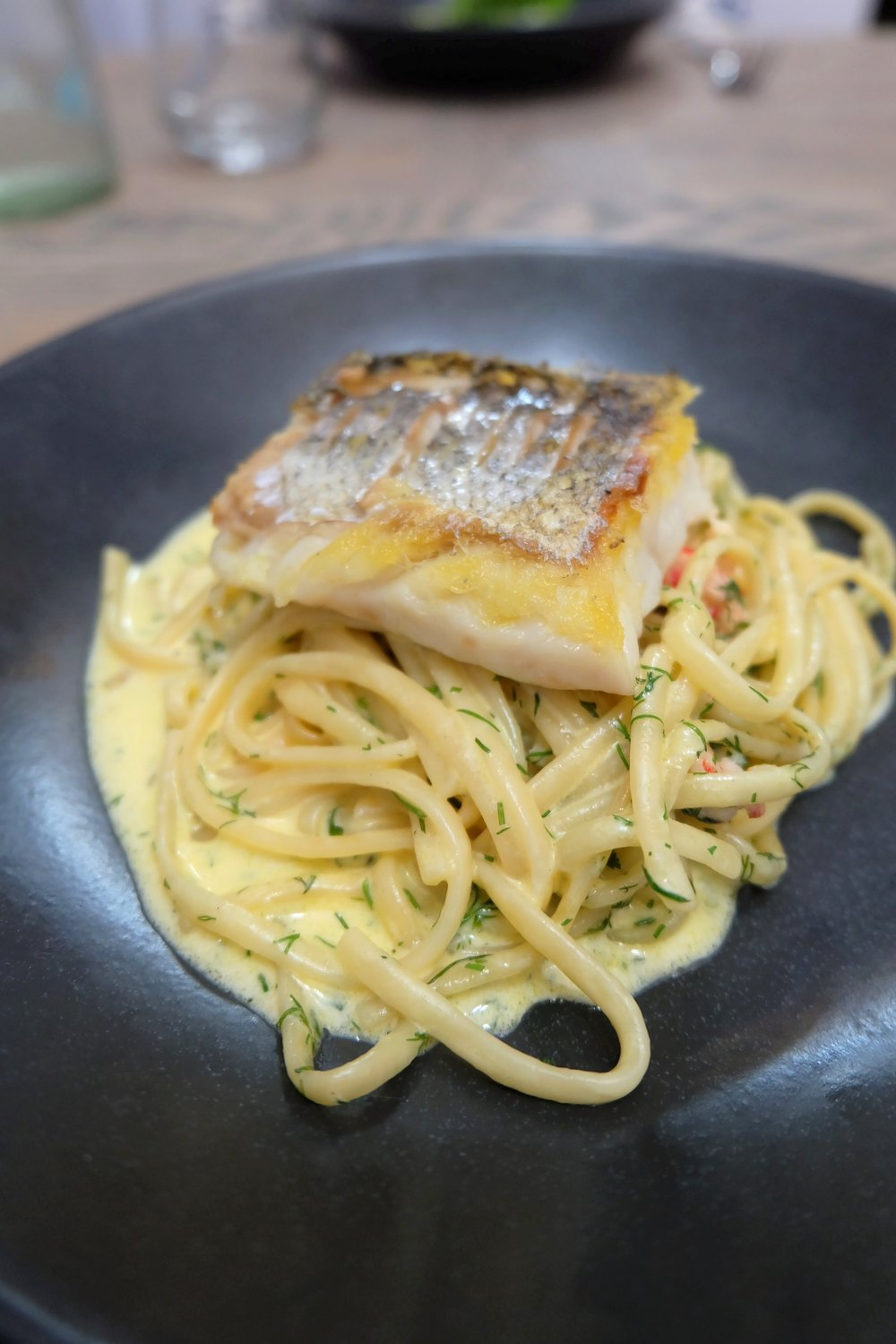 Hake with Linguine