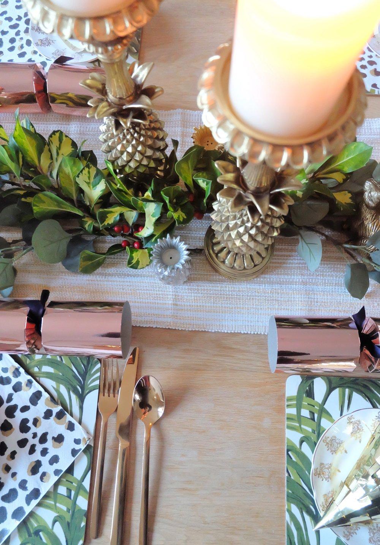 Tropical Glam Christmas Table