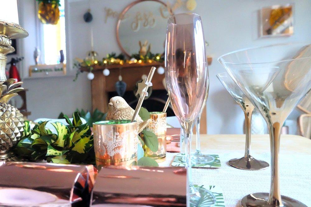 Copper glassware
