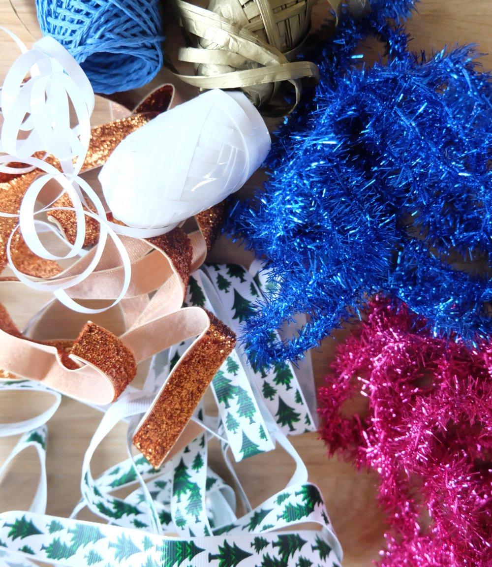 Ribbons and tinsel