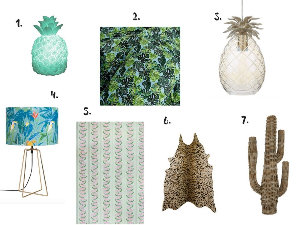 Tropical homeware