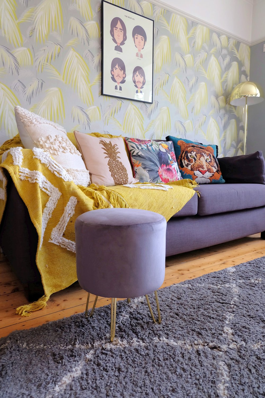 Cult Furniture velvet footstool
