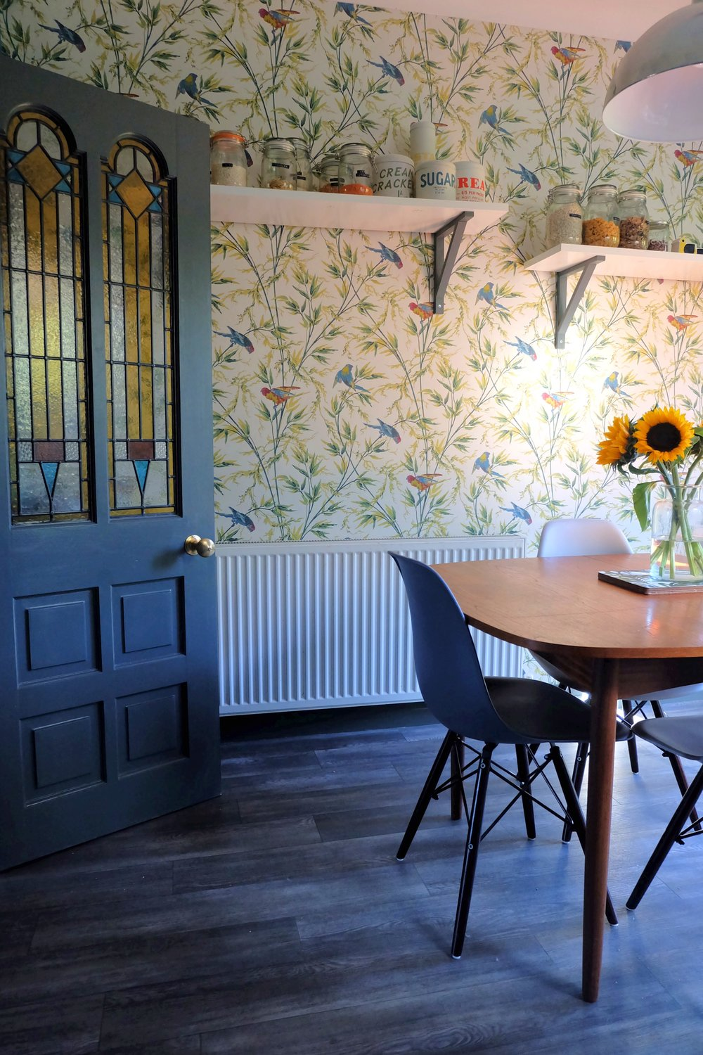 Floral dining space