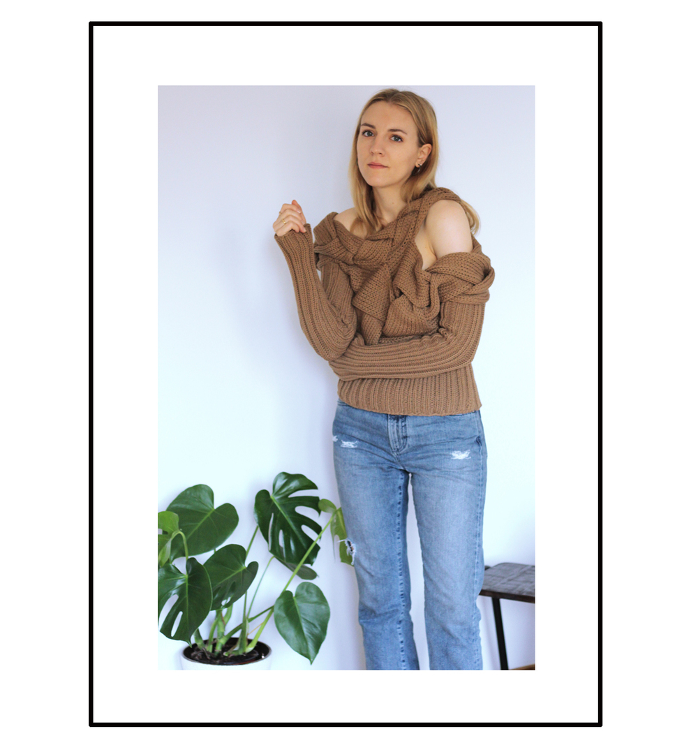 beatrice trodden outfit - house of dagmar knit, mih jeans