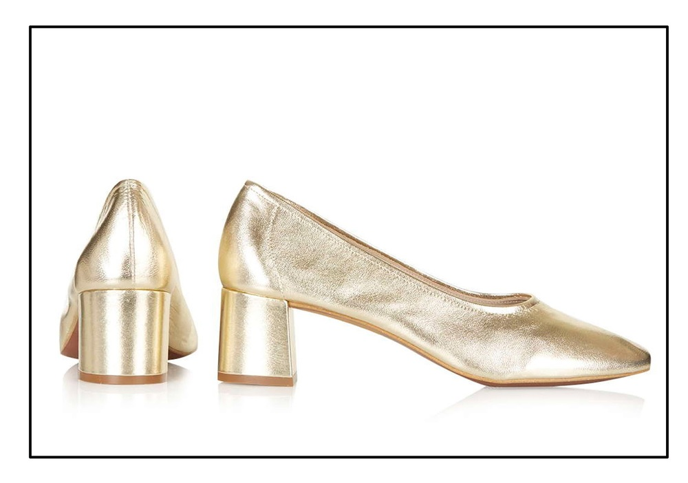 topshop gold shoes