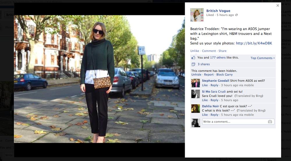 British Vogue Facebook – December 2013