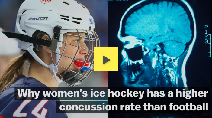 Vox: Why women's ice hockey has a higher concussion rate than football
