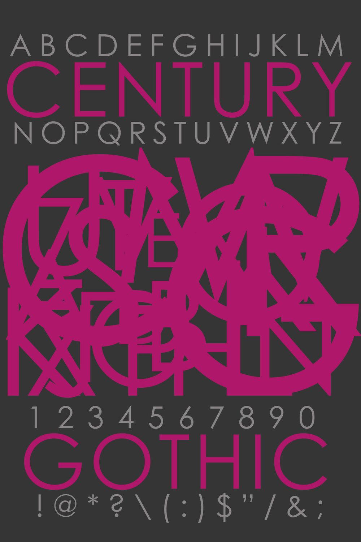 Typography: Century Gothic