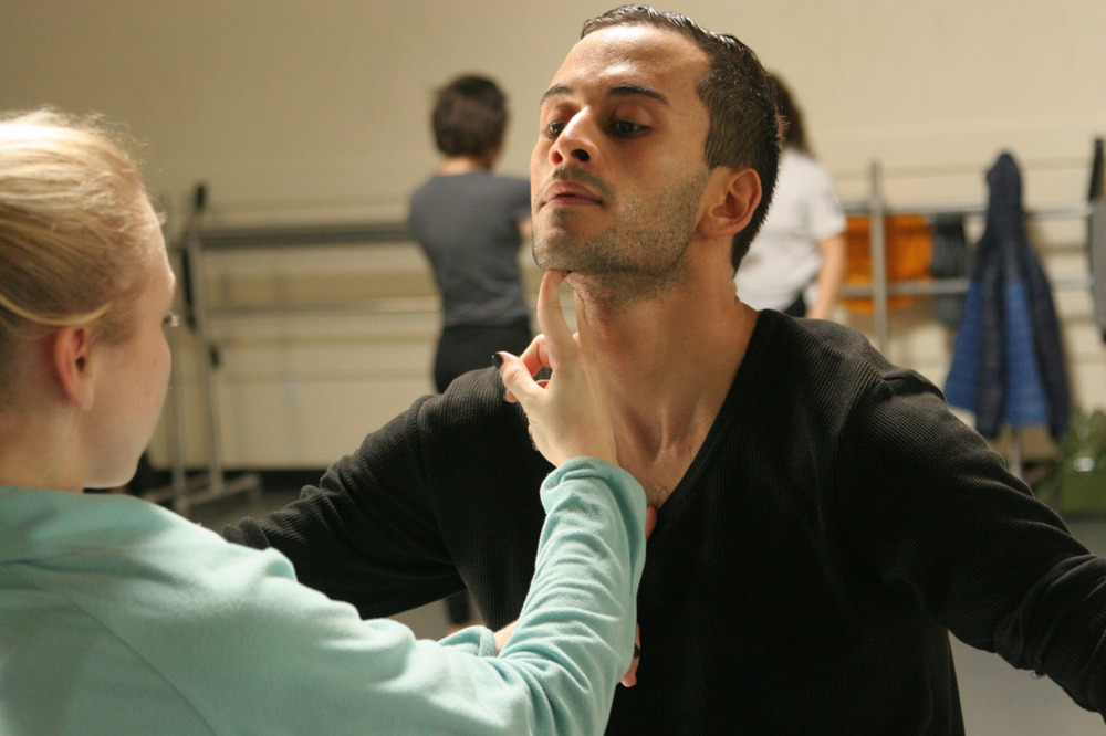 Dancer Chadi El-Khoury rehearsing  YOU AND ME      World Premiere JAN 29-31