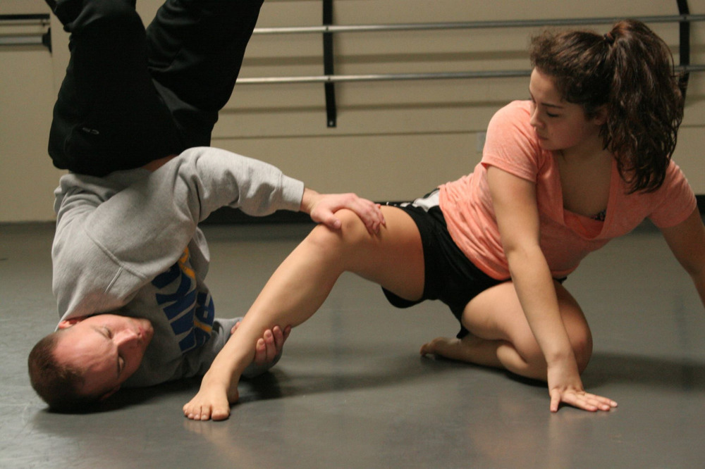 Dancers Steffani Lopez & David Cross rehearsing Joshua L. Peugh's YOU AND ME world premiere JAN 29-31