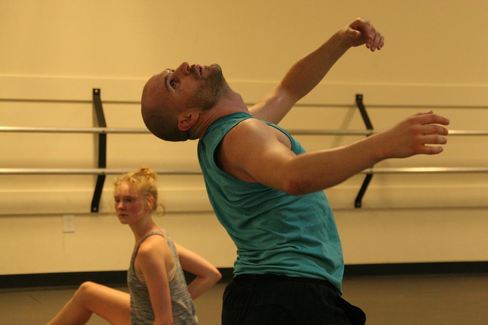 Dancer Zac Hammer rehearsing Mike Esperanza's new work