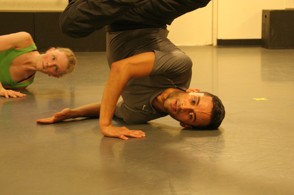 Rehearsing for our company premiere of Chadi El-Khoury's ' Words in Motion'