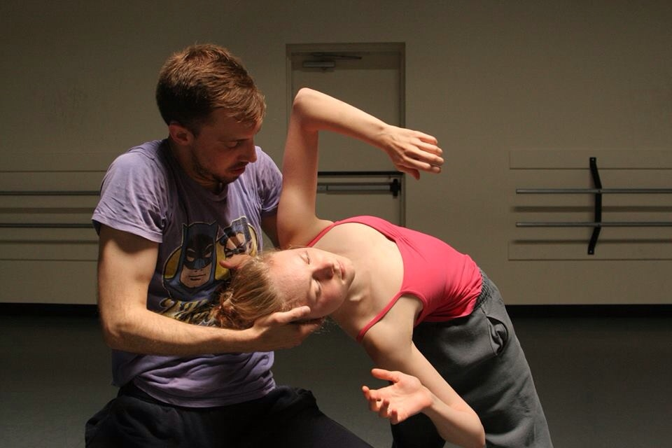 Rehearsing Joshua L. Peugh's new work 'Beautiful Knuckleheads' for our Fall Series at the Sanders