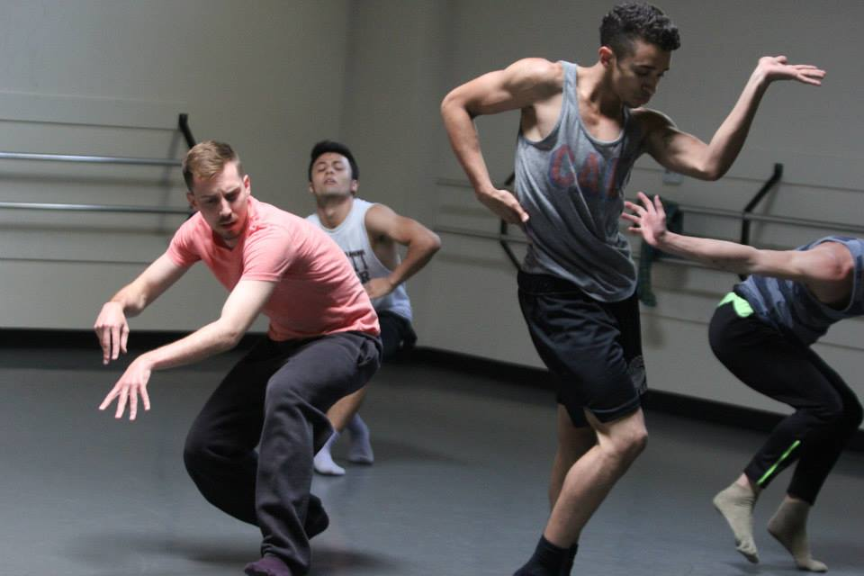 Dancers rehearsing ' Slump ' at an open rehearsal Sunday, May 4, 2014   Photo by Tania Lopez