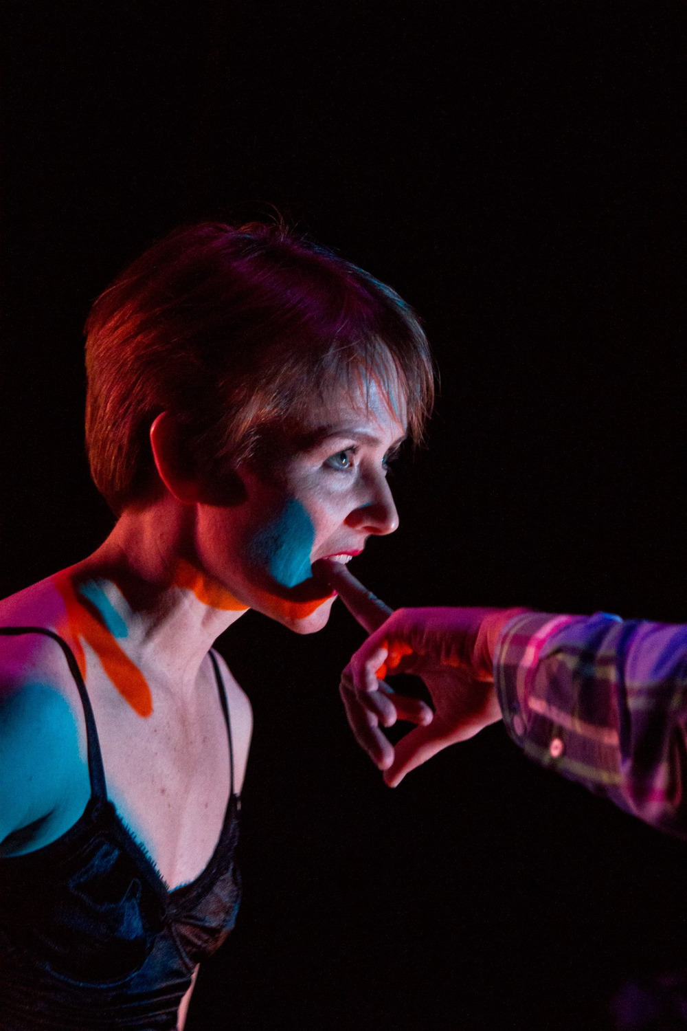 Jennifer Mabus in 'Cosmic Sword' at ReverbDance Festival in NYC    Photo by Stephanie Crousillat
