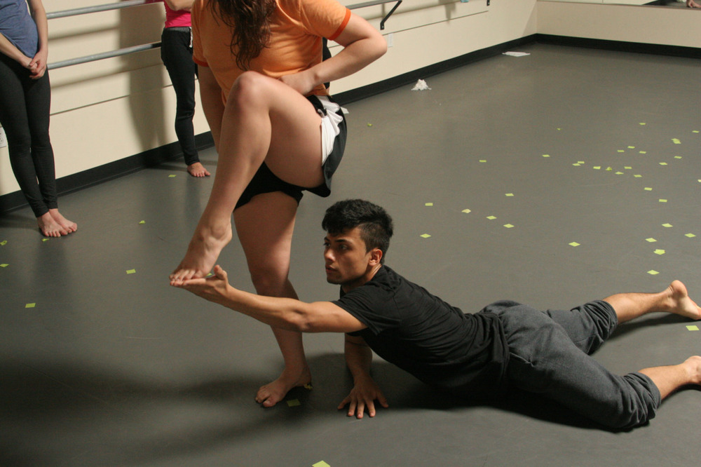 Dancers Steffani Lopez & Jesse Castaneda in rehearsal for Joshua L. Peugh's 'White Day'    MAR 13-15    GET TICKETS:  http://www.darkcirclescontemporarydance.com/
