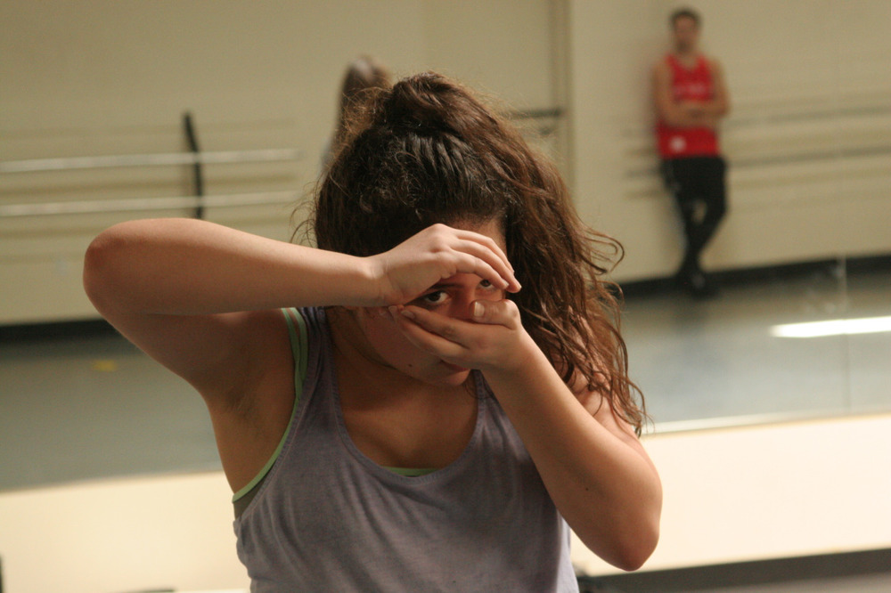 Dancer Steffani Lopez rehearsing guest choreographer Louis Acquisto's  Nemesis Variations     WORLD PREMIERE MAR 13-15    GET TICKETS:  http://www.darkcirclescontemporarydance.com/