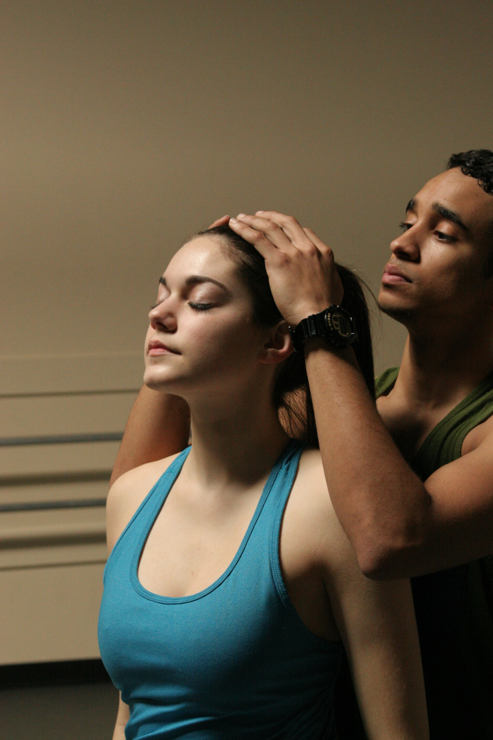 Dancers Emily Bernet and Dexter Green rehearse Joshua L. Peugh's White Day WORLD PREMIERE MAR 13-15 GET TICKETS: http://www.darkcirclescontemporarydance.com/