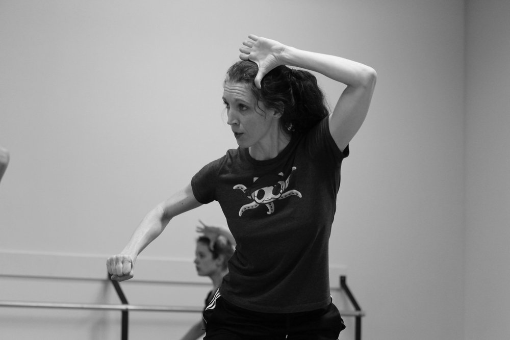 Gabrielle Lamb rehearsing her new creation.